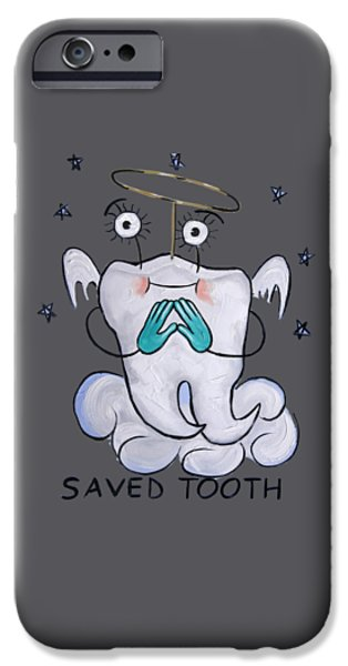 Save iPhone Cases - Saved Tooth T-Shirt iPhone Case by Anthony Falbo