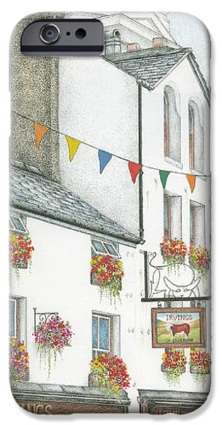 Clock Shop iPhone Cases - Savings Bank Clock Ulverston Cumbria iPhone Case by Sandra Moore