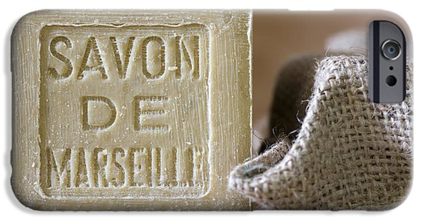 Olive iPhone Cases - Savon de Marseille iPhone Case by Frank Tschakert