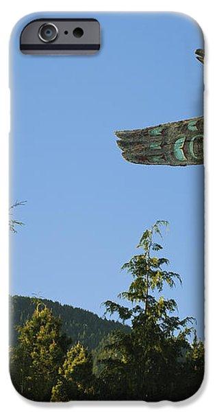 Saxman Totem Park iPhone Case by Greg Vaughn - Printscapes