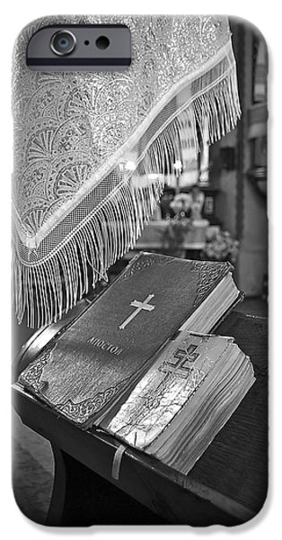 Bible Photographs iPhone Cases - Say a Little Prayer iPhone Case by Evelina Kremsdorf