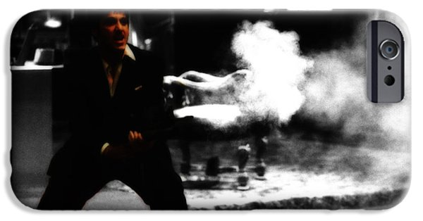 Scarface Digital Art iPhone Cases - Say Hello to My M203 iPhone Case by Brian Reaves