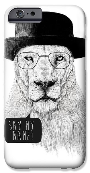 Animal Portraits iPhone Cases - Say my name iPhone Case by Balazs Solti