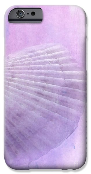 Scallop Sea Shell in Purple iPhone Case by Betty LaRue