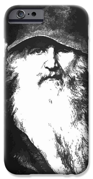 Norway iPhone Cases - Scandinavian Mythology the Ancient God Odin iPhone Case by Tracey Harrington-Simpson