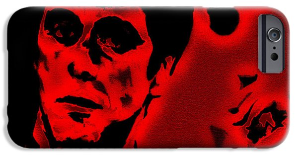 Al Pacino iPhone Cases - Scarface Red iPhone Case by Brian Reaves