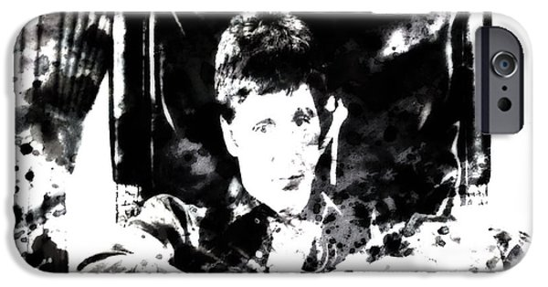 Drug Cartel iPhone Cases - Scarface Reflects iPhone Case by Brian Reaves