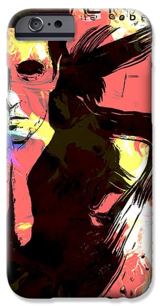 Michael Corleone Digital iPhone Cases - Scarface iPhone Case by Riccardo Zullian
