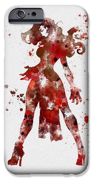 X-men iPhone Cases - Scarlet Witch iPhone Case by Rebecca Jenkins