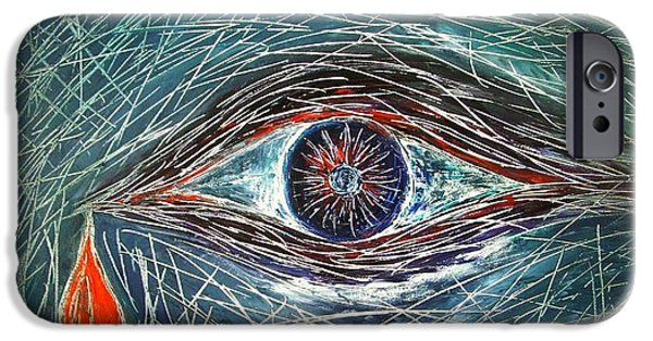 Tear Paintings iPhone Cases - Scars in My Soul iPhone Case by Marianna Mills