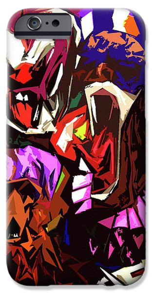 Colored Pencil Abstract iPhone Cases - Scary Clowns Abstract iPhone Case by Peter Piatt