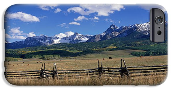 Split Rail Fence iPhone Cases - Scene Along Last Doller Road North iPhone Case by Panoramic Images