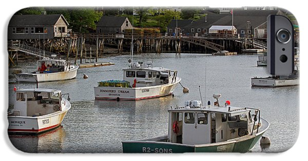 East Village iPhone Cases - Scenic New Harbor Maine iPhone Case by Juergen Roth