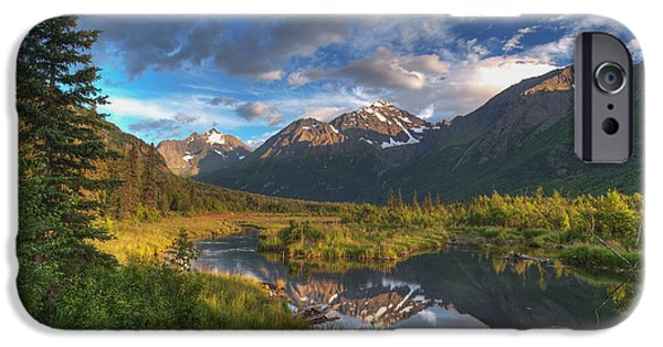 The Nature Center iPhone Cases - Scenic View Of Eagle River Valley iPhone Case by Michael Jones