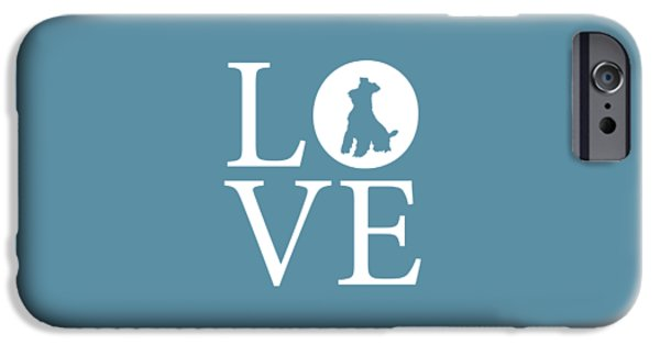 Owner Digital iPhone Cases - Schnauzer Love iPhone Case by Nancy Ingersoll