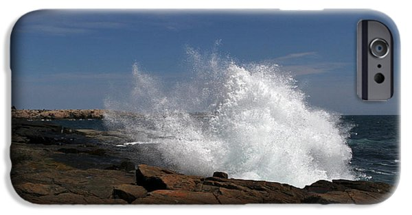 Down East iPhone Cases - Schoodic Point in Acadia National Park iPhone Case by Juergen Roth