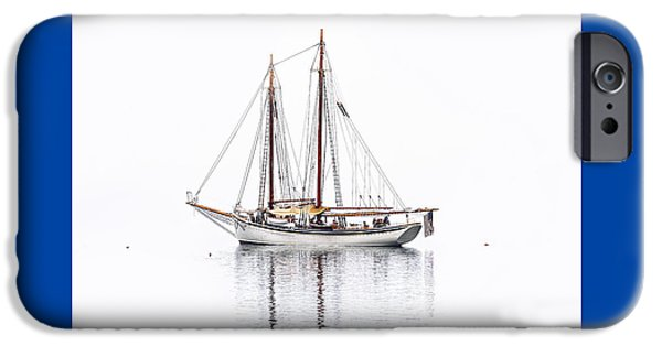 Maine iPhone Cases - Schooner American Eagle iPhone Case by Marty Saccone