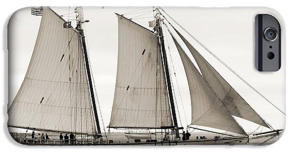 Sailboat iPhone Cases - Schooner Harvey Gamage of Islesboro Maine iPhone Case by Dustin K Ryan