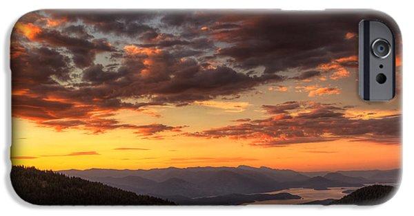 Idaho iPhone Cases - Schweitzer Mountain Sunrise iPhone Case by Mark Kiver