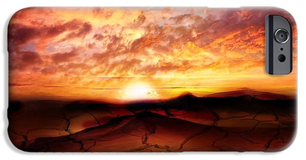 Dreamscape iPhone Cases - Scorched Earth iPhone Case by Photodream Art