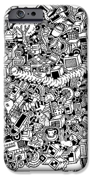Chip Drawings iPhone Cases - Score iPhone Case by Chelsea Geldean