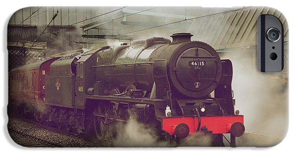 Electrical iPhone Cases - Scots Guardsman at Carlisle Railway Station iPhone Case by Andrew Findlay