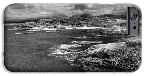 Dave iPhone Cases - Scottish Coast iPhone Case by David Hare