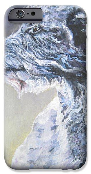 Scottish Dog iPhone Cases - Scottish Deerhound iPhone Case by Lee Ann Shepard