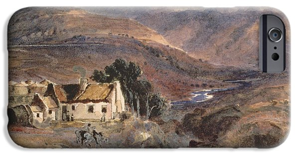 River View Drawings iPhone Cases - Scottish Landscape iPhone Case by Sir Joseph Noel Paton