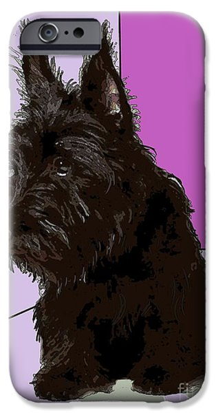Scottish Terrier Art iPhone Cases - Scottish Terrier iPhone Case by George Pedro