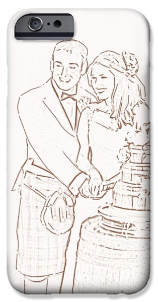 Women Together iPhone Cases - Scottish Wedding iPhone Case by Olimpia - Hinamatsuri Barbu
