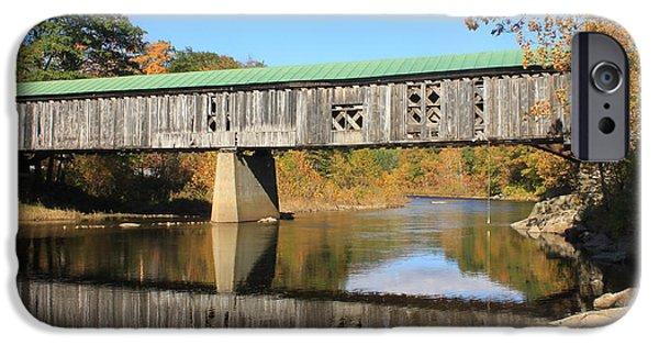 Covered Bridge iPhone Cases - Scotts Covered Bridge West River iPhone Case by John Burk