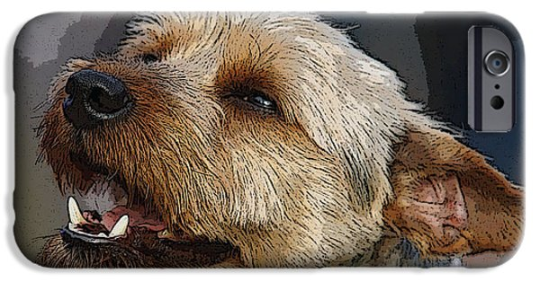 Puppies iPhone Cases - Scotty Grinning  iPhone Case by Reggie Hart