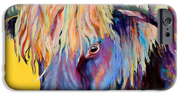 Cow iPhone Cases - Scotty iPhone Case by Pat Saunders-White