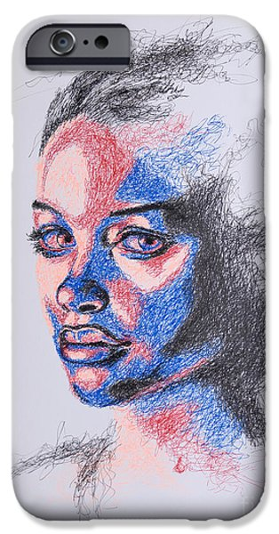 Portrait iPhone Cases - Scratched  iPhone Case by Fithi Abraham