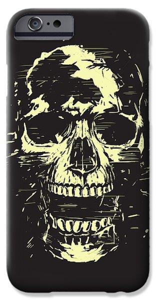 Skull iPhone Cases - Scream iPhone Case by Balazs Solti