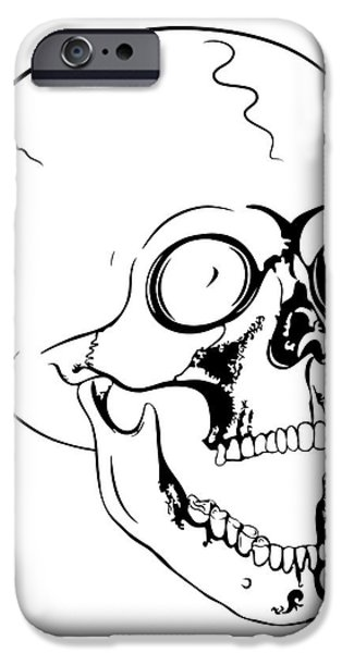 screaming skull iPhone Case by Michal Boubin