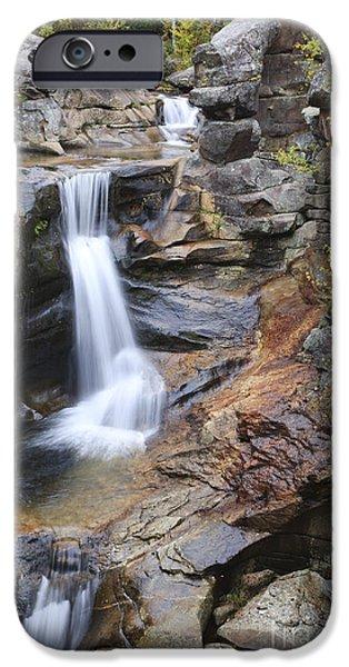 Granite Bedrock iPhone Cases - Screw Auger Falls - Maine  iPhone Case by Erin Paul Donovan