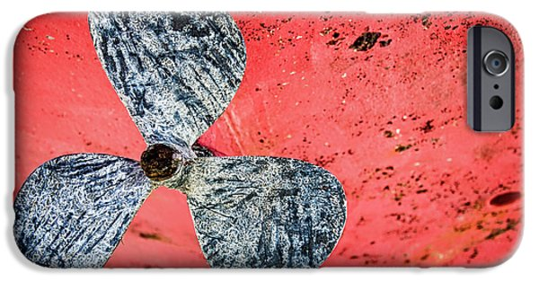Machinery iPhone Cases - Screw propeller iPhone Case by Delphimages Photo Creations