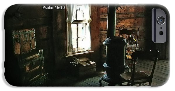 Bible Photographs iPhone Cases - Scripture and Picture Psalm 46 10 iPhone Case by Ken Smith
