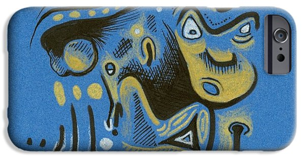 Moonscape Mixed Media iPhone Cases - Scrutch iPhone Case by Ralf Schulze