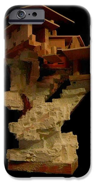House Sculptures iPhone Cases - Sculpture #2 iPhone Case by Caleb Rogers