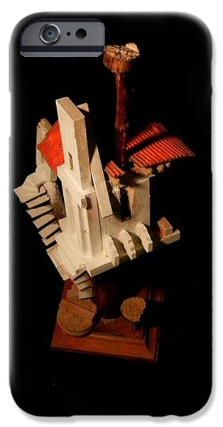House Sculptures iPhone Cases - Sculpture #3 iPhone Case by Caleb Rogers