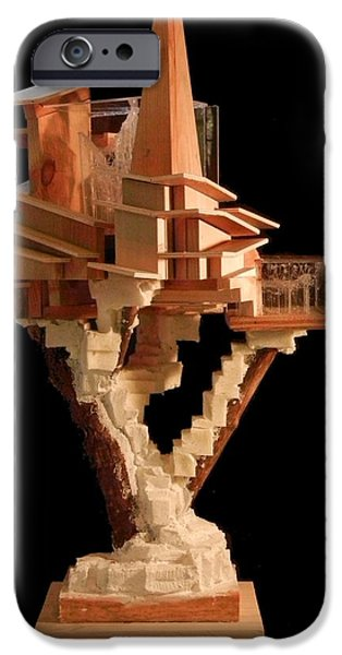 House Sculptures iPhone Cases - Sculpture #4 iPhone Case by Caleb Rogers