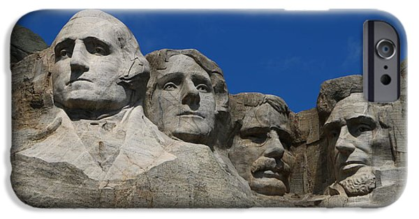 Lincoln iPhone Cases - Sculptures of Former U.S. Presidents  iPhone Case by Christiane Schulze Art And Photography