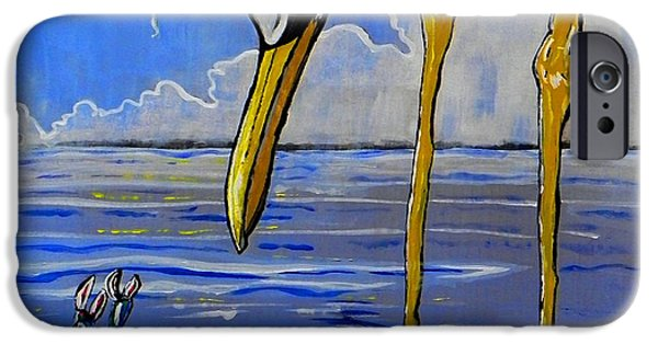 Consumerproduct iPhone Cases - Sea Birds iPhone Case by W Gilroy