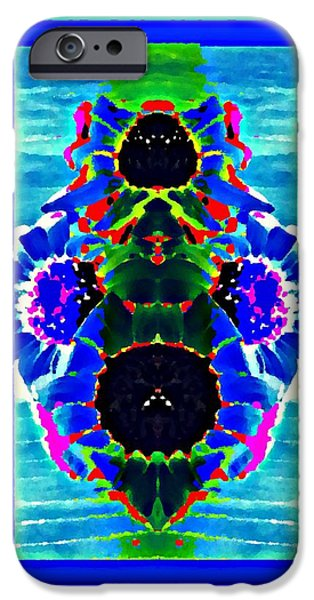 Abstract Forms iPhone Cases - Sea Bloom iPhone Case by Estella Bradford