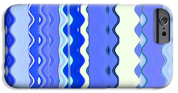 Beach Landscape iPhone Cases - Sea Blue Wave Tapestry iPhone Case by Ann Johndro-Collins