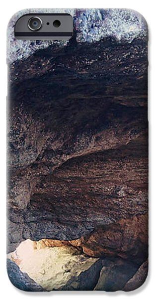 Overhang iPhone Cases - Sea Cave iPhone Case by Leah Vi