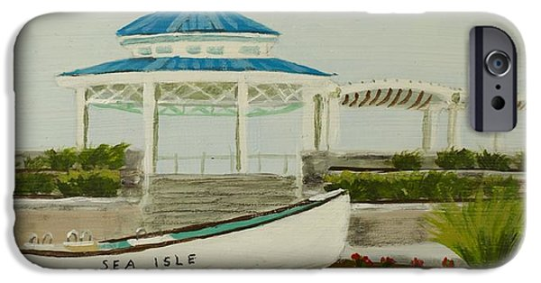 Jersey Shore Paintings iPhone Cases - Sea Isle City New Jersey Gazebo iPhone Case by Patty Kay Hall
